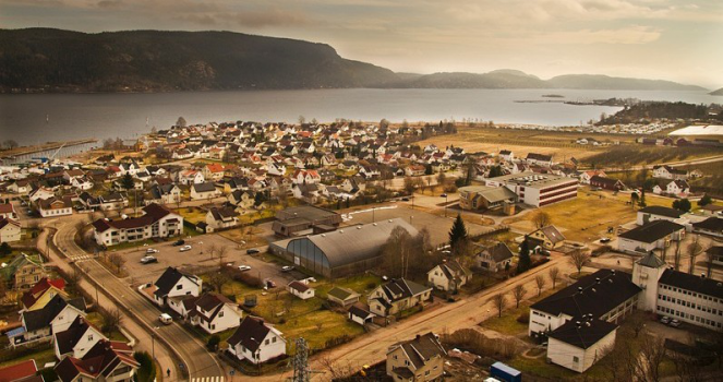 Panorama over Svelvik. Foto: Richard Halvorsen
